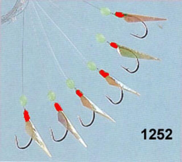 5 packets of fish skin sabiki  glitter   mackerel tinsel feathers 6 hooks