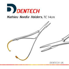 "MATHIEU NEEDLE HOLDER TC 14cm, DENTAL SURGICAL INSTRUMENT  STAINLESS STEEL ""CE"""
