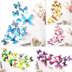 12pcs-3D-PVC-DIY-Butterflies-Butterfly-Art-Decal-Home-Decor-Wall-Mural-Stickers