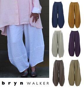 BRYN-WALKER-USA-Light-Linen-OLIVER-PANT-Balloon-Panel-Hem-1X-2X-3X-SPRING-2017