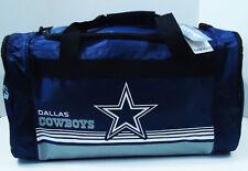 """Dallas Cowboys DUFFEL Bag Stripes Gym Training New 20"""" x 11"""" x 11"""" NFL"""