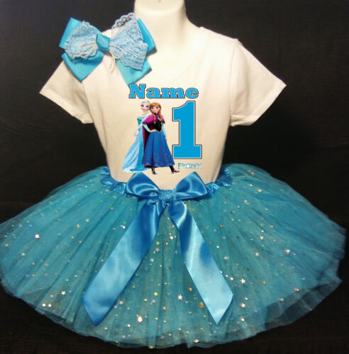Frozen 1st Birthday dress--With NAME-- party Tutu outfit