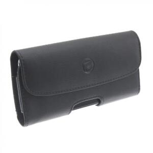 BLACK-LEATHER-CASE-SIDE-COVER-POUCH-HOLSTER-BELT-CLIP-LOOPS-M2P-for-SMARTPHONES