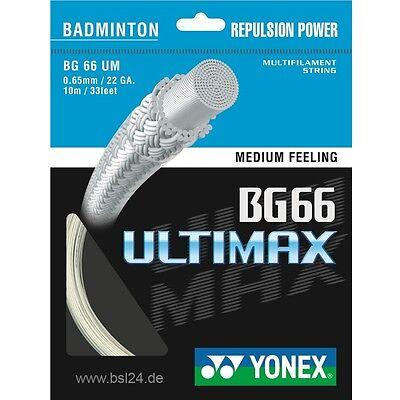 Sonstige Yonex Bg 66 Ultimax Saiten Set 10m 0,65mm Durchmesser Für Eine Bespannung Badminton neu-