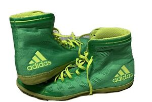 ADIDAS-ADIZERO-JAKE-VARNER-MEN-039-S-SIZE-15-FLASH-LIME-YELLOW-USED-CHECK-IT