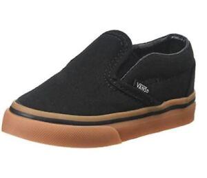643347397e52 Infant Toddler VANS OFF THE WALL  Slip On  Shoe (Gumsole) Black Gum ...