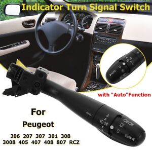 Indicator Turn Signal Switch Auto For Peugeot 307 301 308 206 207 405 407  ~.