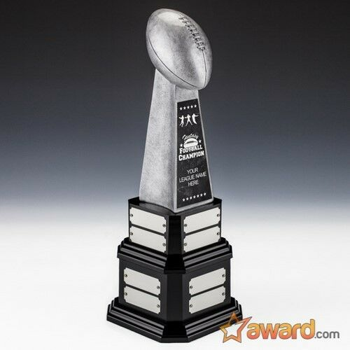 Fantasy Football Trophy Perpetual -16 Years-15.5 - Free Engraving- Ships 1 Day
