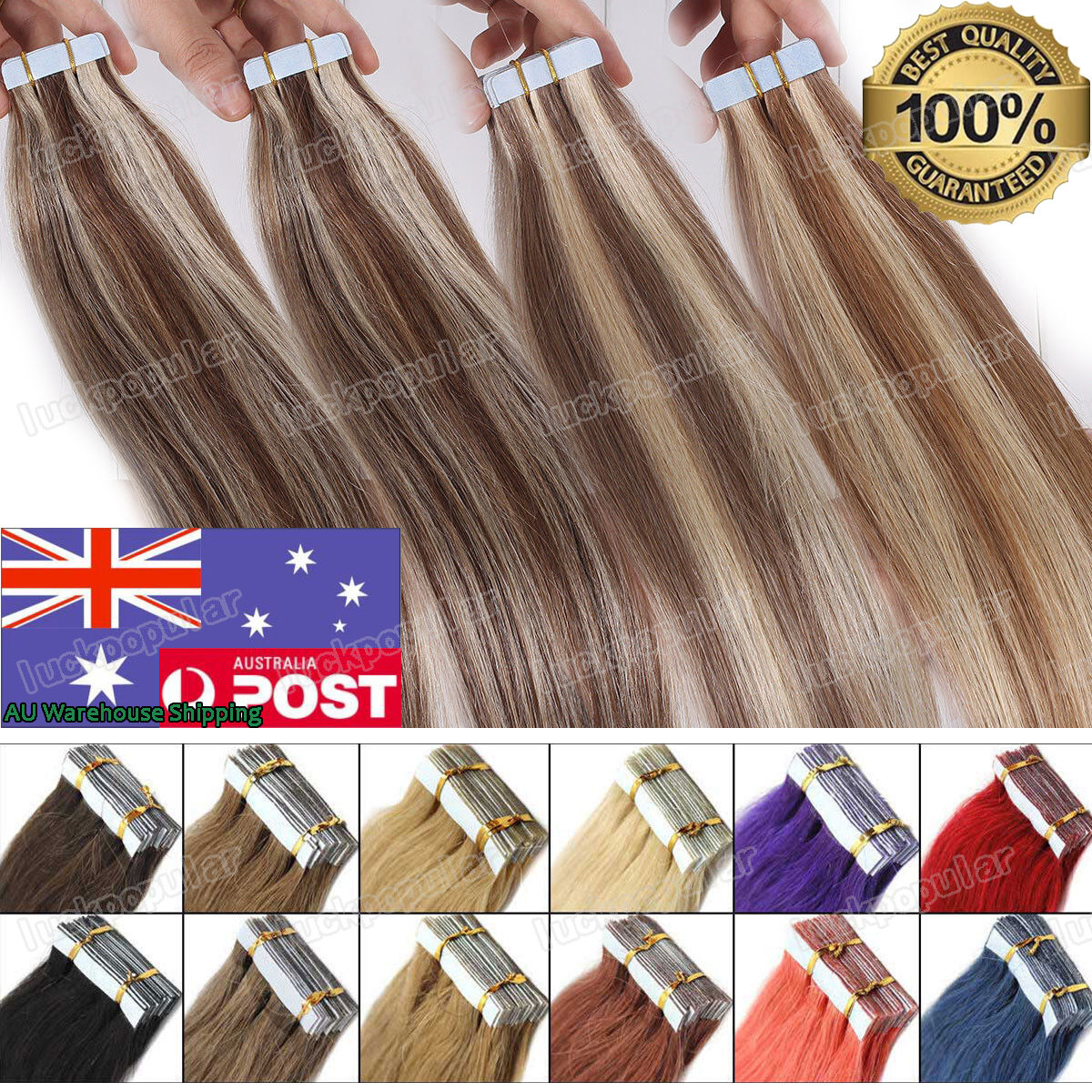 Diy Super Adhesive Seamless Tape In Skin Weft Hair Extensions Remy