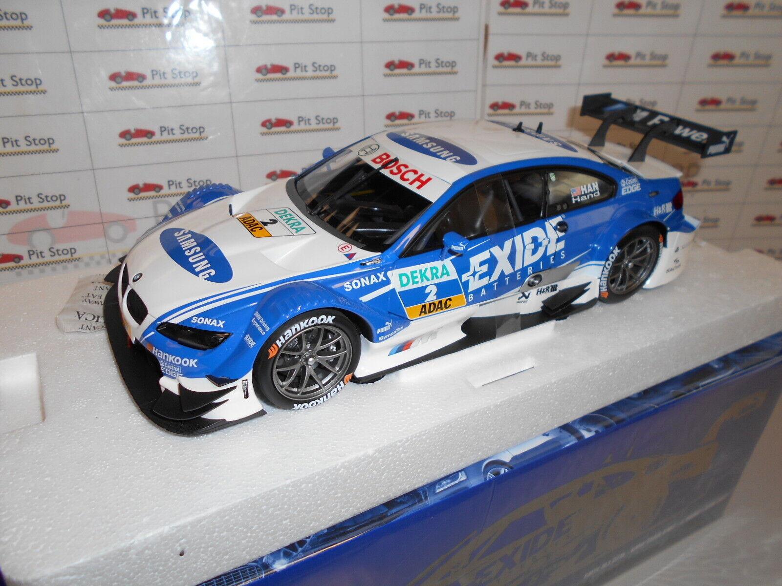 MIN100122202 by MINICHAMPS BMW M3 DTM -BMW TEAM RMG- J.HAND DTM 2012 1 18