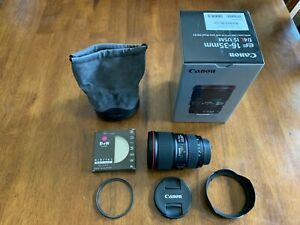 Canon-EF-16-35mm-f-4L-IS-USM-Lens-Mint-Condition-With-New-B-W-Filter