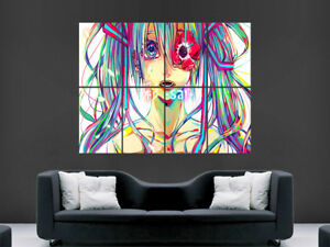 TRIPPY GIRL JAPANESE  POSTER ABSTRACT ART PICTURE PRINT LARGE HUGE