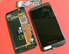 DISPLAY + TOUCH SCREEN+ COVER CORNICE per BLACKBERRY Z10 4G VETRO FRAME NERO