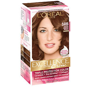Loreal Excellence Triple Protection Hair Color Creme 5rb Medium