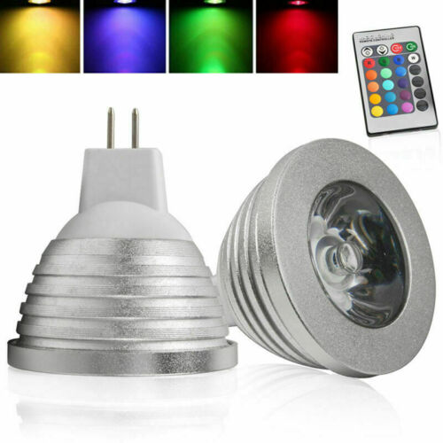 GU10 MR16 E14 E27 3W LED RGB Bulb Remote Control Color Change Memory Function y