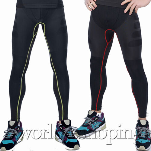 Mens Skeleton Compression Cycling Fitness Tight Legging Base Layer Sports Pants