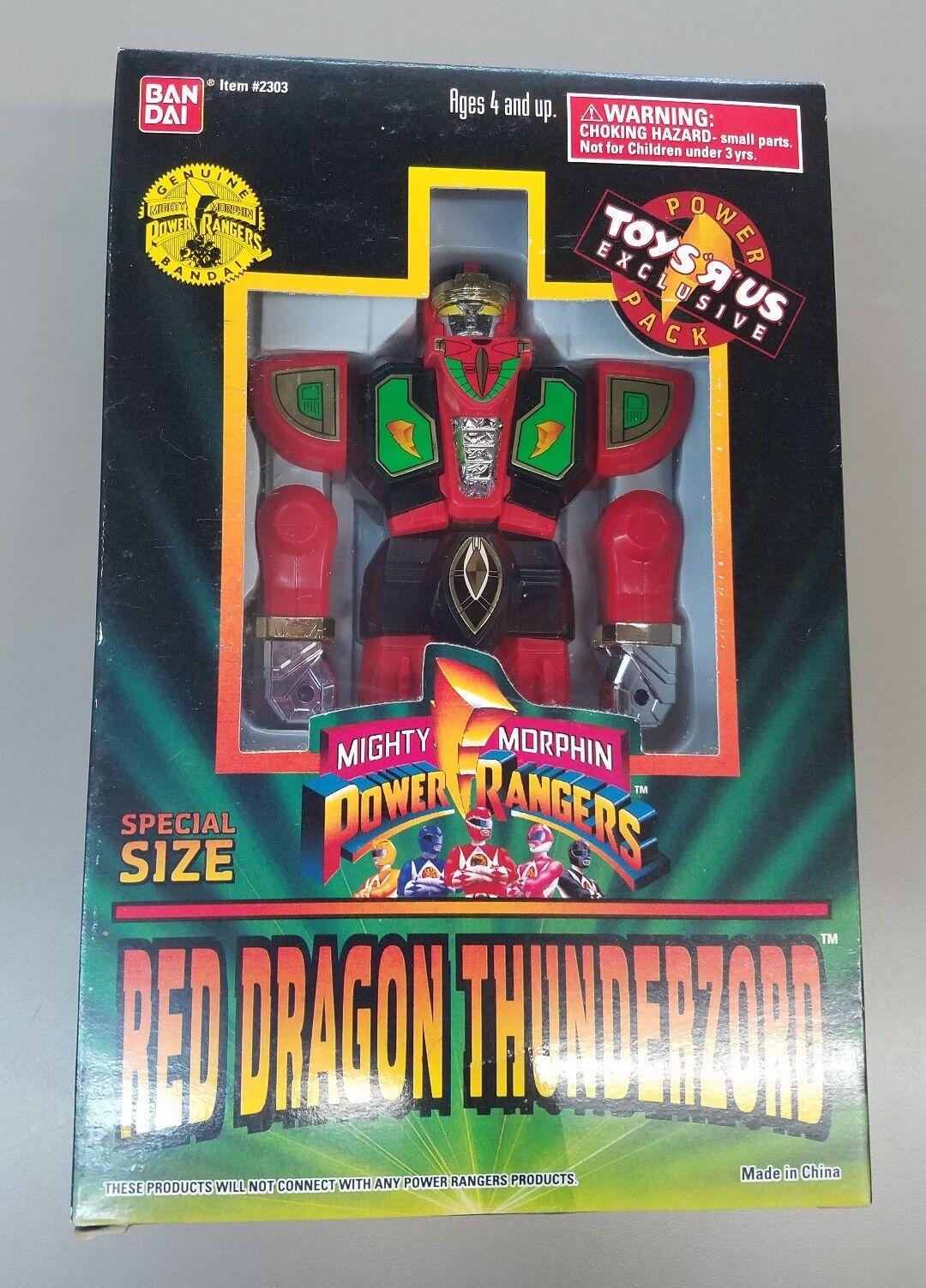 Mächtige morphin power rangers rot dragonzord besondere größe toys r us - 1994