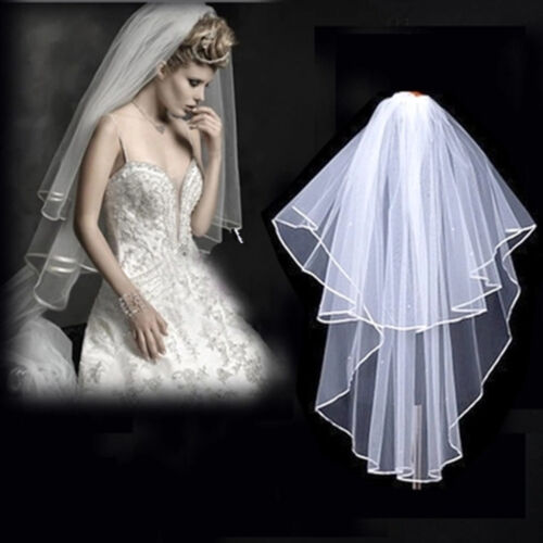 Veil White Wedding Charm Bride Bachelorette To Be Fancy Dress Hen Night Party S