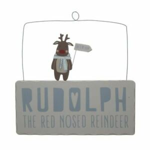 Wooden-Hanging-Rudolph-The-Red-Nosed-Reindeer-Sign-Plaque-Christmas-Decoration