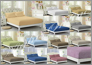 Christmas-Special-Offer-New-Plain-Dyed-Fitted-Bed-Sheet-Poly-Cotton-Clearance