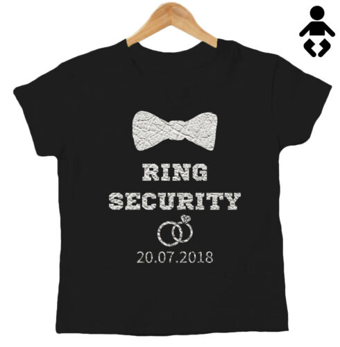 T-Shirt Wedding Baby // Childs RING SECURITY Personalised Date love Page Boy