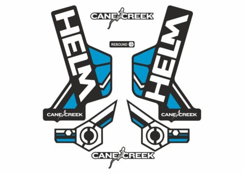 Cane Creek Helm Forks Suspension Factory Decals Stickers Adhesive White Blue