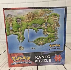 Details about Pokemon 550 pc Collector\'s Puzzle Kanto Region Map by USAopoly