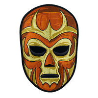 Luchador Lucha Libre Brown Pro Wrestling Embroidered Patch Iron Sew On Diy Punk