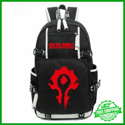 World of Warcraft Horde PC Game Schultasche Rucksack Studenten Kinder