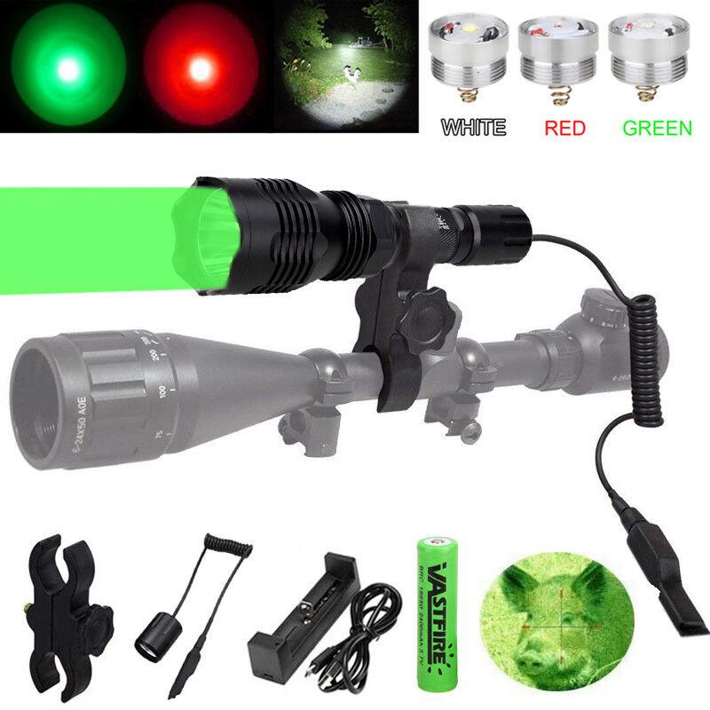 Red Green White 350 Yard Light LED Coyote Hog Pig Varmint Predator Hunting Lamp