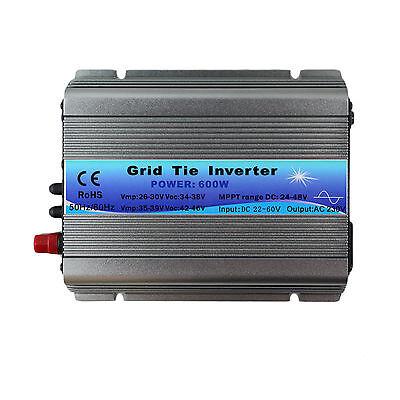 600W Micro Solar Grid Tie Inverter MPPT Pure Sine Wave DC 22-60V To AC 110V/220V