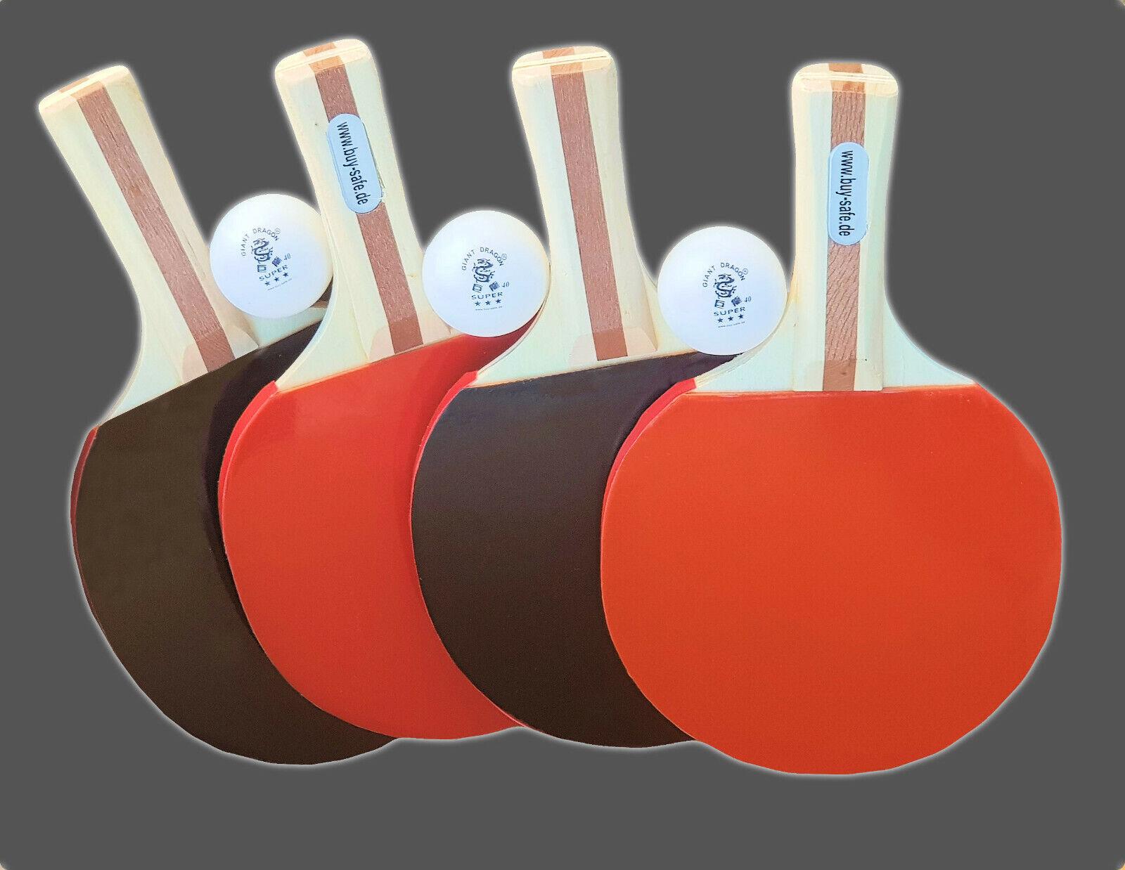Tischtennis-Schläger-Set Tischtennis-Schläger-Set Tischtennis-Schläger-Set  Schläger + Bälle in 3 Sterne- Qualität e44e1a