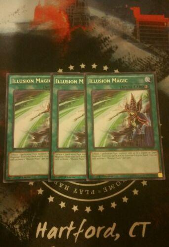 1st-YUGIOH~AA//magician//jump//mvp1 Rare X1 NM Illusion Magic TDIL-EN058