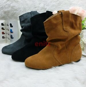 Flat Shoes Ankle Boots Size UK