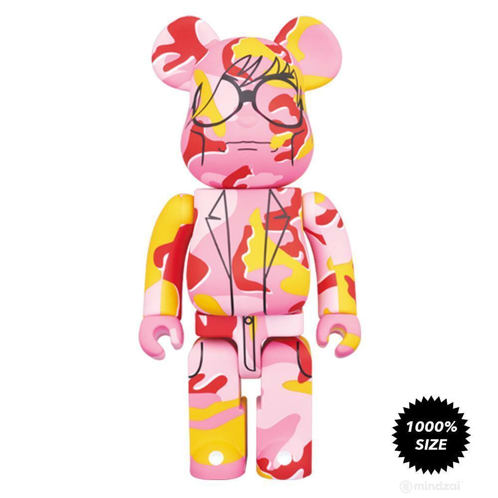 Medicom 1000% BE@RBRICK Andy Warhol rosado Camo Bearbrick