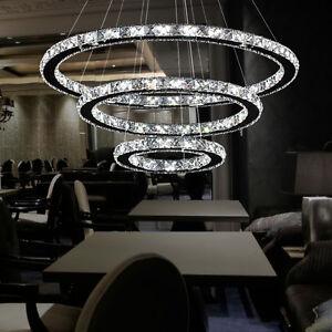Details Zu Deckenlampe Pendellampe Design Kristall Led Hangeleuchte Esszimmer Kronleuchter