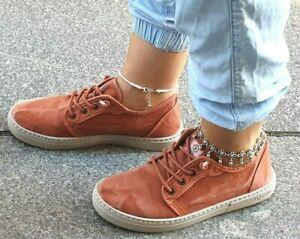 Natural-World-Schuhe-6302E-618-Orange-cangrejo-enz-Bio-Baumwolle-Waschbar