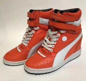Details about Rare Mihara Yasuhiro Puma Contact Block Wedge Heel US Women's Size 6.5 Orange