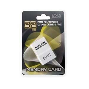 EAXUS-32-Mo-Memory-Card-Pour-NINTENDO-GAMECUBE-WII-Carte-Memoire-NGC-NCG-507-blocs