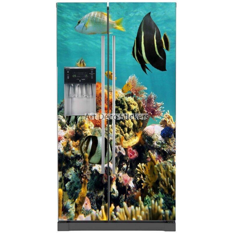 Aufkleber Kühlschrank Amerikanischer Hintergrund Marine 100x180cm 5763 5763
