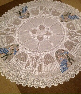lace tablecloth for a round table