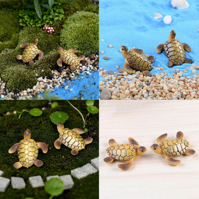 Fairy Garden Miniature Stone House Figurine Craft Micro Landscape Ornament QW