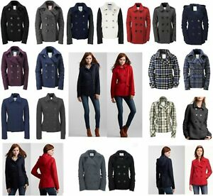 AERO Aeropostale Solid Hooded Peacoat Pea Coat Winter Jacket XS,S,M,L,XL,2XL NEW