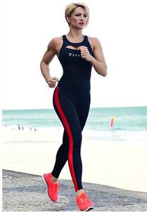 new women cotton yoga pants running sport elastic leggings