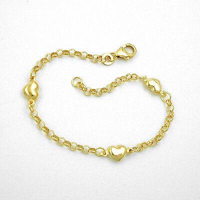 Baby Kinder Taufe Echt Gold 585 Herz Herzchen Armband mit Gravur Name Datum
