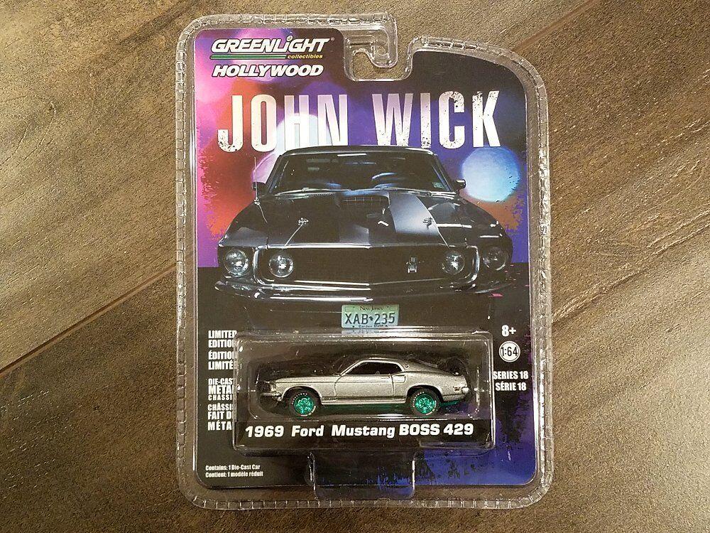 grandes ahorros verdelight 1 1 1 64 John mecha 1969 Ford Mustang Boss 429 Diecast Coche 44780-E Chase  comprar marca