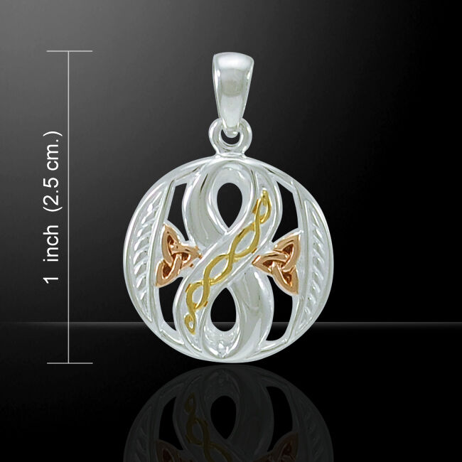 Celtic Infinity Three Tone Pendant by Peter Stone