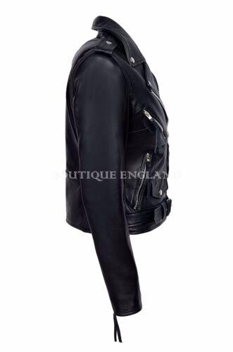San Valentino Donna Giacca in Pelle Stile Biker montati look urbano Giacca Napa MBF