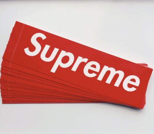 Supreme Box Logo Sticker 100/% Genuine//Authentic One Supreme Sticker Brand New