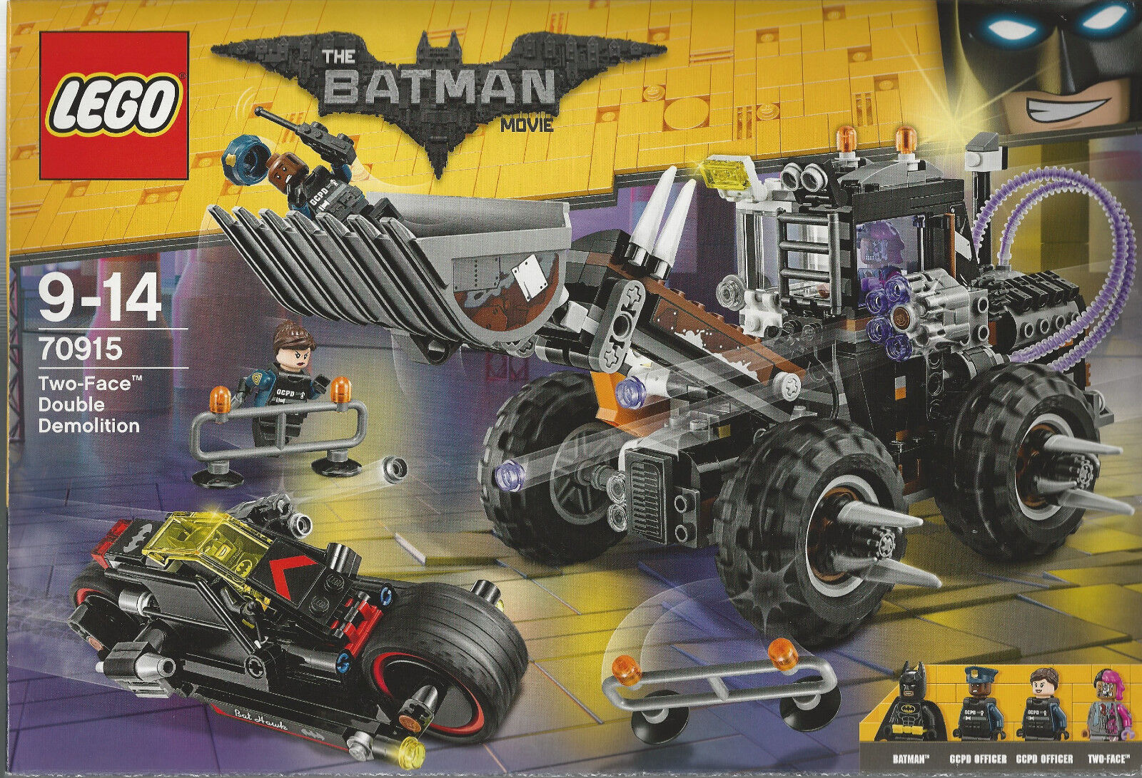 LEGO BATMAN THE MOVIE 70915 TWO FACE DOUBLE DEMOLITION  new with 4 minifigures